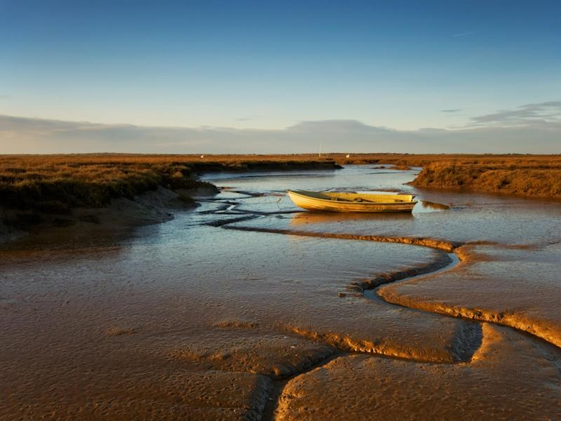 Deepdale Marshes in Norfolk are among the areas of wetland threatened by the rising tide: Getty