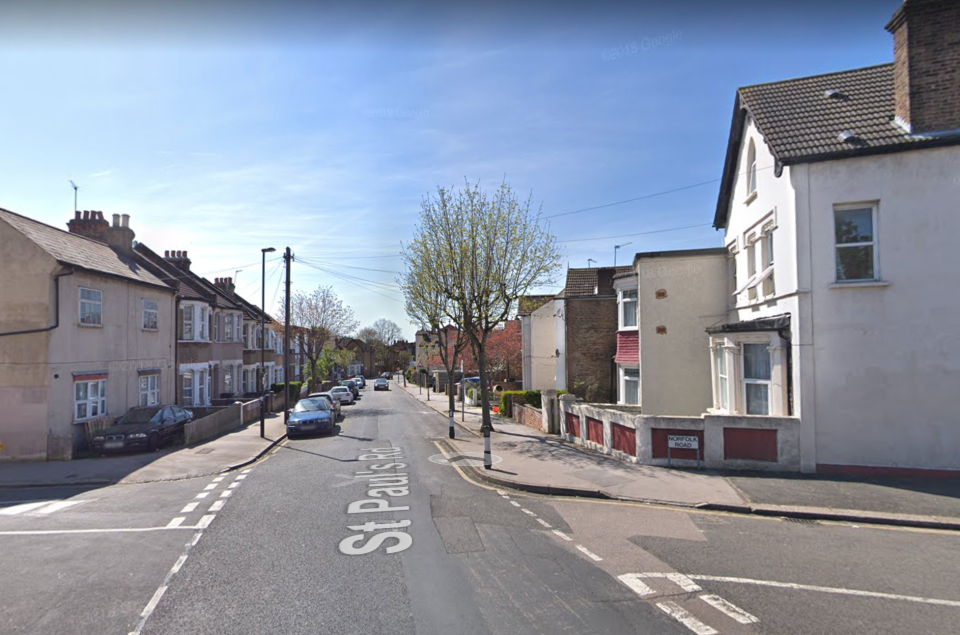 St Paul's Road in Thornton Heath, Croydon, where a 15-year-old girl was stabbed. (Google Maps)