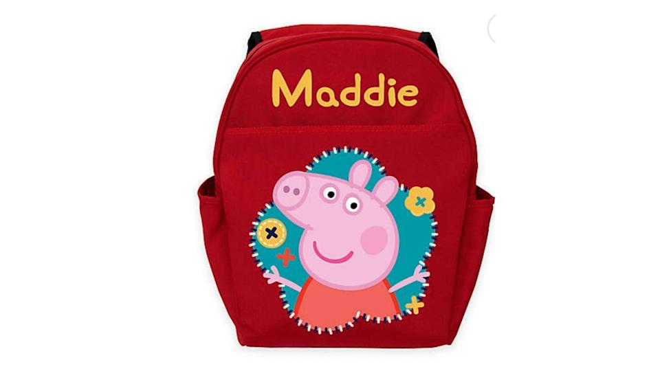 We love that you can personalize this for your favorite Peppa fan.