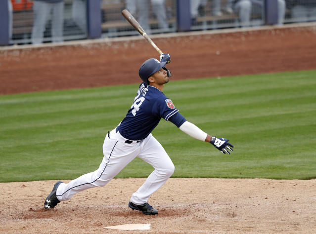Fernando Tatis' season was ended by surgery for a broken thumb, but his talent is undeniable. (AP)