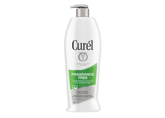 """<p><strong>Curél</strong></p><p>target.com</p><p><strong>$6.99</strong></p><p><a href=""""https://www.target.com/p/curel-hand-and-body-lotion/-/A-82808945"""" rel=""""nofollow noopener"""" target=""""_blank"""" data-ylk=""""slk:Shop Now"""" class=""""link rapid-noclick-resp"""">Shop Now</a></p><p>Curél's no-nonsense body and skin care products exist to do one thing—help your skin look its best. We love how effective the formulas are, and our wallets love the affordable prices. </p>"""