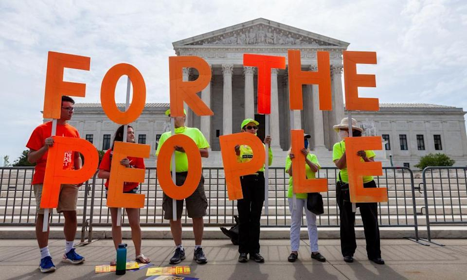 A rally to pass the For the People Act in Washington DC earlier this month.