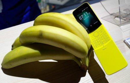 The new Nokia 8110 is displayed during the Mobile World Congress in Barcelona, Spain February 25, 2018. REUTERS/Yves Herman