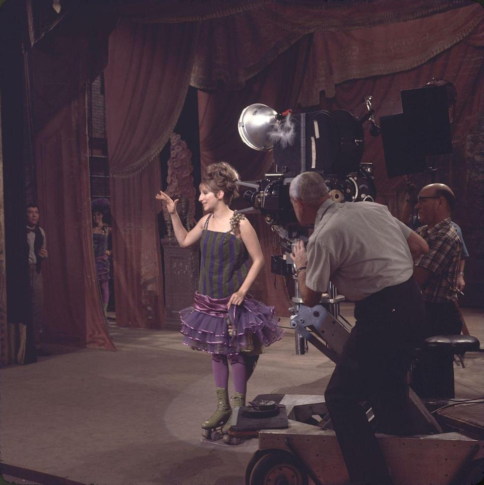 <p>Who would have thought that not knowing how to roller skate would work out so well? Fanny Brice (Barbra Streisand) may have hung up her olive green skates, but they still live on in infamy. </p>