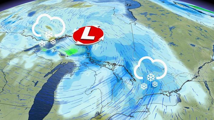 Incoming clipper brings dash of snow to Ontario, ahead of falling temperatures