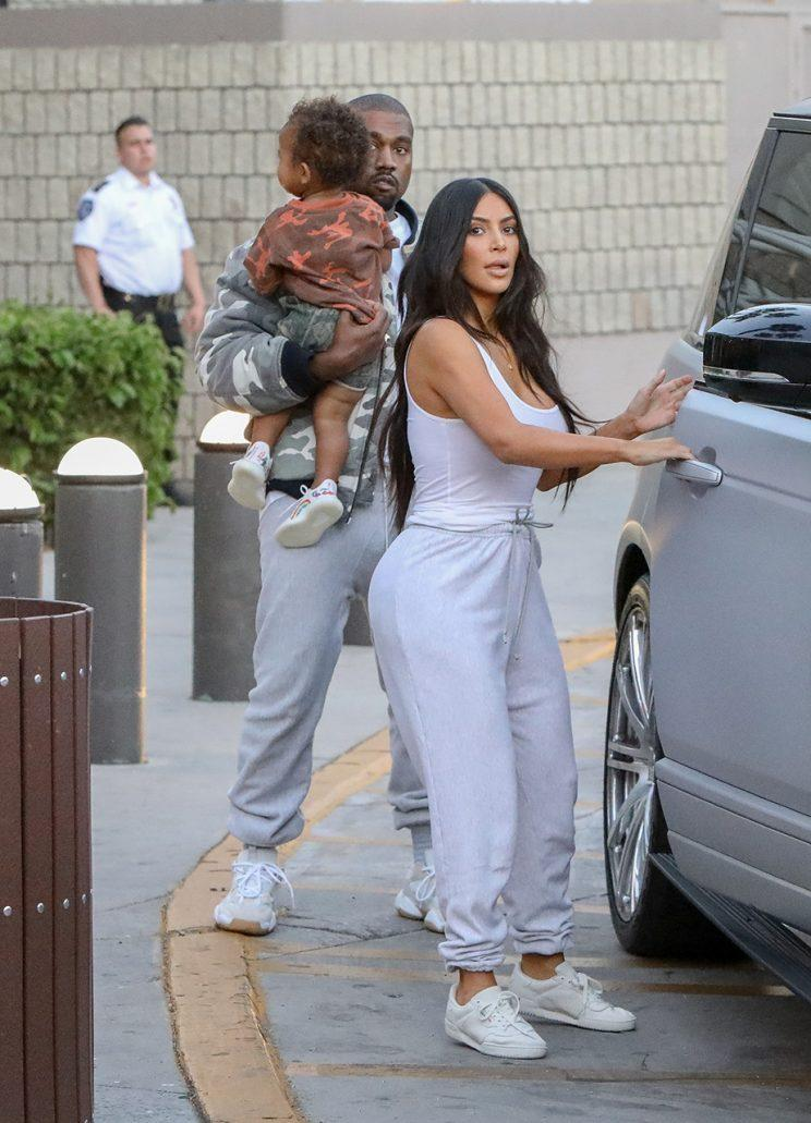 Kardashian stuns in the first day of her uniformed outfit. (Photo: X17online.com)