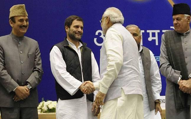 Rahul Gandhi to Narendra Modi: Congratulations. PM's reply: Thank you. Long live democracy!