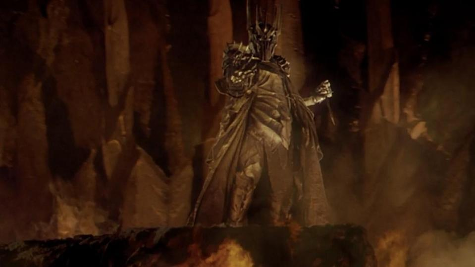 Sauron forging the One Ring in Mount Doom from The Lord of the Rings: The Fellowship of the Ring.