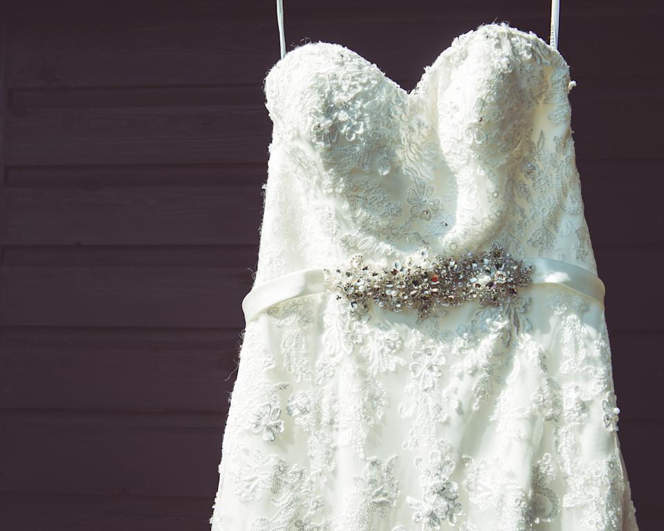 A bride's mother-in-law wore a wedding dress to her son's big day [Photo: Getty]