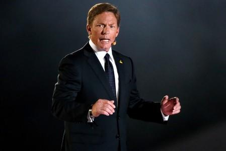 FILE PHOTO: CEO of Fisher Investments Kenneth Fisher speaks during the opening ceremony of the Invictus Games in Orlando