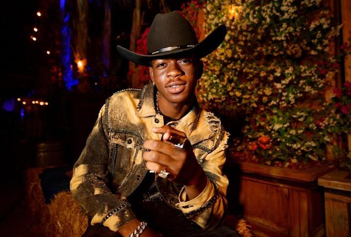 INDIO, CALIFORNIA - APRIL 28: Lil Nas X poses backstage during the 2019 Stagecoach Festival at Empire Polo Field on April 28, 2019 in Indio, California. (Photo by Matt Winkelmeyer/Getty Images for Stagecoach)