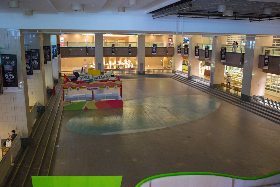 The Takashimaya Square inside the Ngee Ann City mall seen empty on 7 April 2020, the first day of Singapore's month-long circuit breaker period. (PHOTO: Dhany Osman / Yahoo News Singapore)