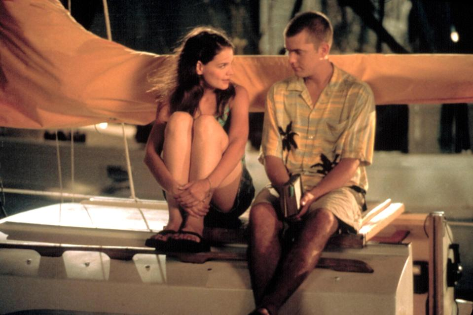 Did <em>Dawson's Creek</em> invent the love triangle? No, but it sure felt like it back in the late '90s. Katie Holmes's character, Joey, had a choice to make: Did she want to be with earnest Dawson or jokester Pacey? Regardless, Holmes and costar Joshua Jackson dated for about a year while their characters continued to be on-again, off-again. Not awkward at all.