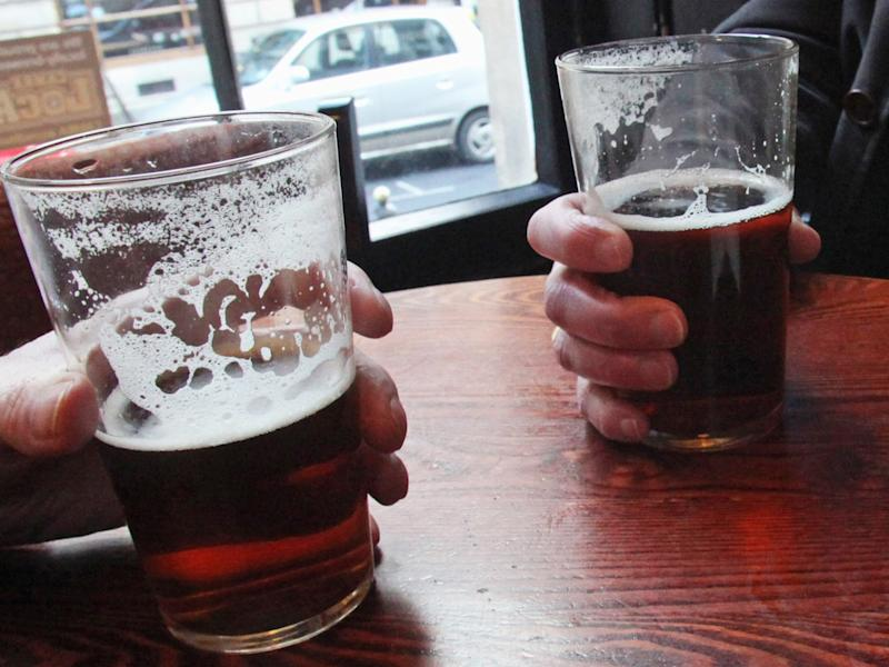 I'll drink to that: the new app means that you never need leave your seat at the pub ever again: Getty