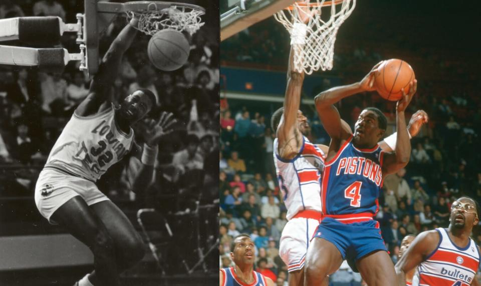 Karl Malone and Joe Dumars were on an incomparable AAU super team in Louisiana. (AP)