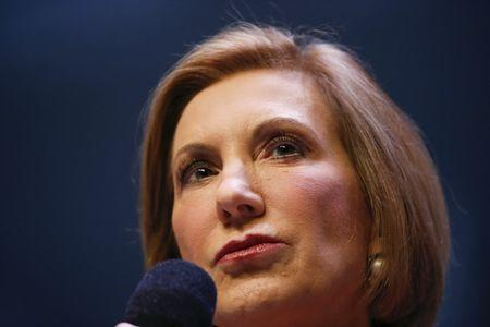 U.S. Republican presidential candidate and former CEO Carly Fiorina speaks during the Heritage Action for America presidential candidate forum in Greenville, South Carolina on September 18, 2015. REUTERS/Chris Keane