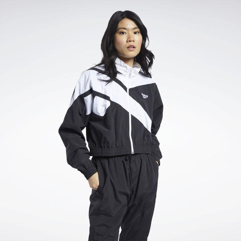 """<p><strong>reebok</strong></p><p>reebok.com</p><p><strong>$64.97</strong></p><p><a href=""""https://go.redirectingat.com?id=74968X1596630&url=https%3A%2F%2Fwww.reebok.com%2Fus%2Fclassics-vector-cropped-track-jacket%2FFT8170.html&sref=https%3A%2F%2Fwww.cosmopolitan.com%2Fstyle-beauty%2Ffashion%2Fg35696965%2Freebok-activewear-sale-hauliday%2F"""" rel=""""nofollow noopener"""" target=""""_blank"""" data-ylk=""""slk:Shop Now"""" class=""""link rapid-noclick-resp"""">Shop Now</a></p><p>And if you want an extra layer to wear with that dress, here's a cool, contrasting cropped jacket that'll turn all the heads.</p>"""