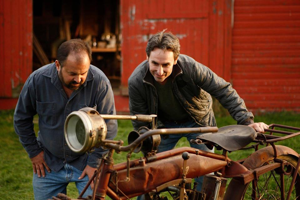 Mike Wolfe and Frank Fritz on American Pickers