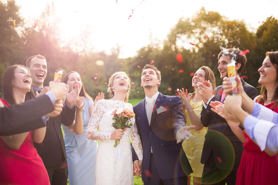 Larger weddings can go ahead with certain restrictions. (Getty Images)