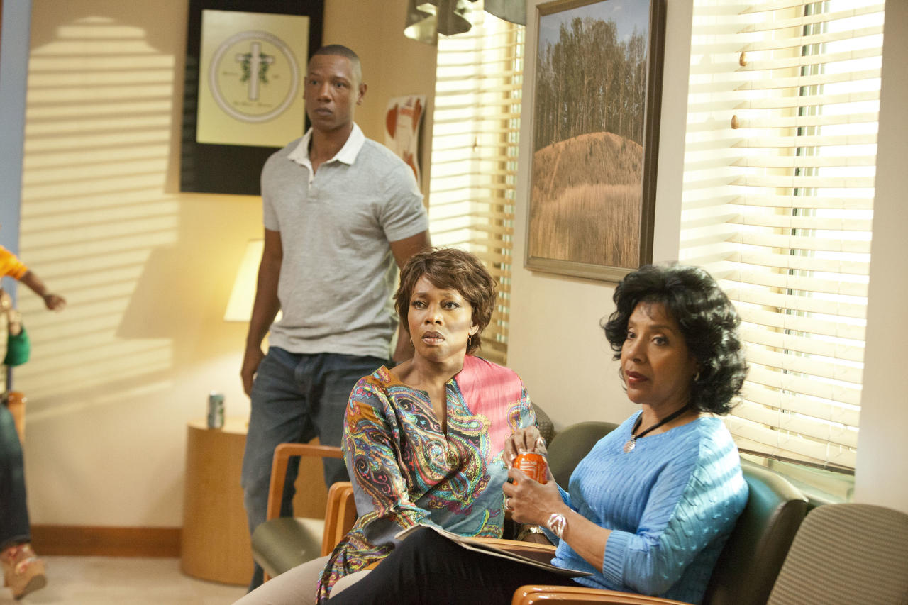 """Tory Kittles (""""Jackson""""), Alfre Woodard (""""Ouiser"""") and Phylicia Rashad (""""Clariee"""") star in the all-new Lifetime Original Movie, """"Steel Magnolias,"""" premiering Sunday, October 7, at 9pm on Lifetime."""