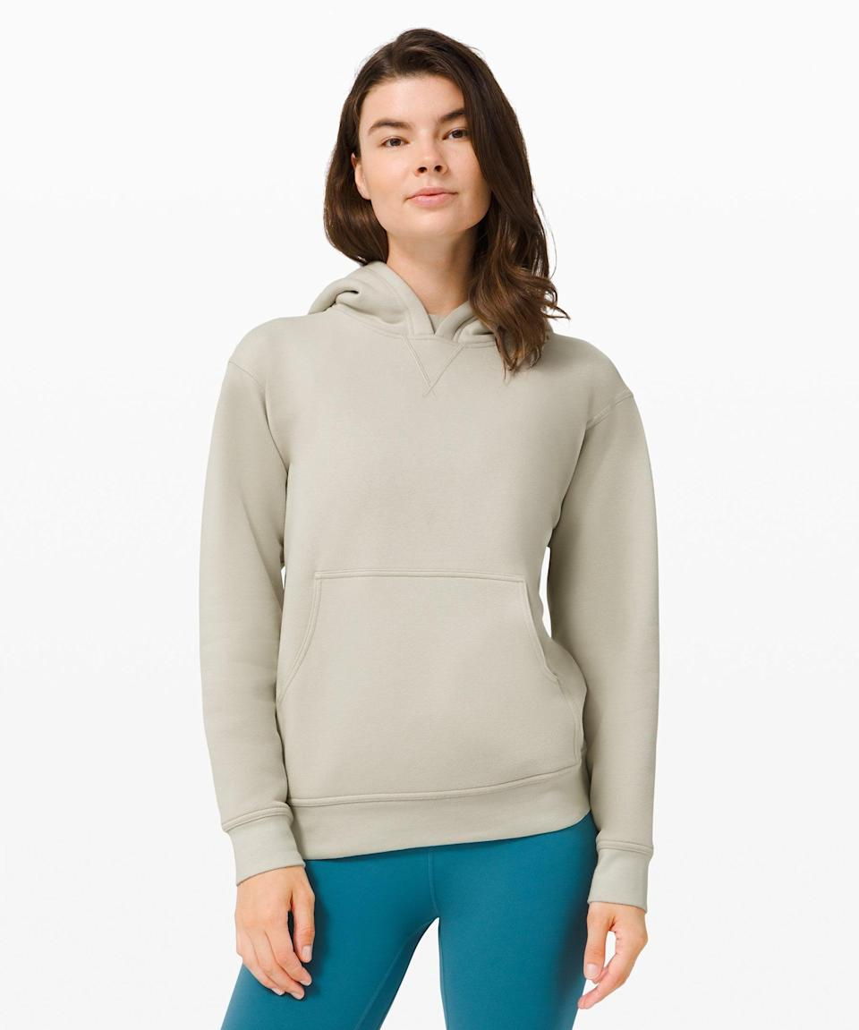 """<h3>All Yours Hoodie Fleece</h3><br>If you want to swaddle your head in fleecy fabric, you're in luck because All Yours has you covered. (You'll want one in every color.)<br><br><strong>What They're Saying:</strong> """"I haven't bought anything lululemon in a few years, and splurged on myself with this hoodie. The size is perfect, not too oversized but not too snug in all the wrong places. It stretches so nicely, and is just a superior fabric to my big box hoodies. I'll be wearing this FREQUENTLY this fall/winter!""""<br><br><strong>lululemon</strong> All Yours Hoodie Fleece, $, available at <a href=""""https://go.skimresources.com/?id=30283X879131&url=https%3A%2F%2Fshop.lululemon.com%2Fp%2Fcold-weather%2FAll-Yours-Hoodie%2F_%2Fprod9440062"""" rel=""""nofollow noopener"""" target=""""_blank"""" data-ylk=""""slk:lululemon"""" class=""""link rapid-noclick-resp"""">lululemon</a>"""