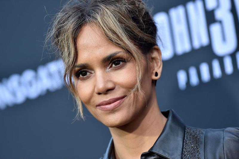 Halle Berry has totally nailed the pillow challenge during coronavirus lockdown, pictured here at the screening of John Wick: Chapter 3 - Parabellum in May 2019. (Getty Images)