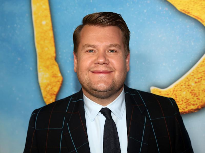 James Corden poses at an event