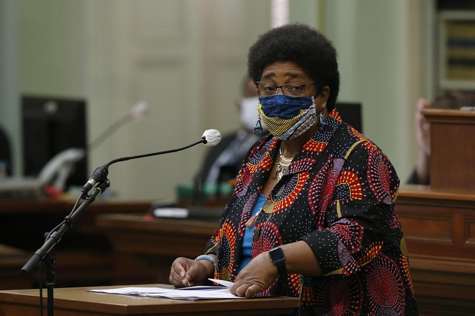 Assemblywoman Shirley Weber, D-San Diego, calls on lawmakers to create a task force to study and develop reparation proposals for African Americans.