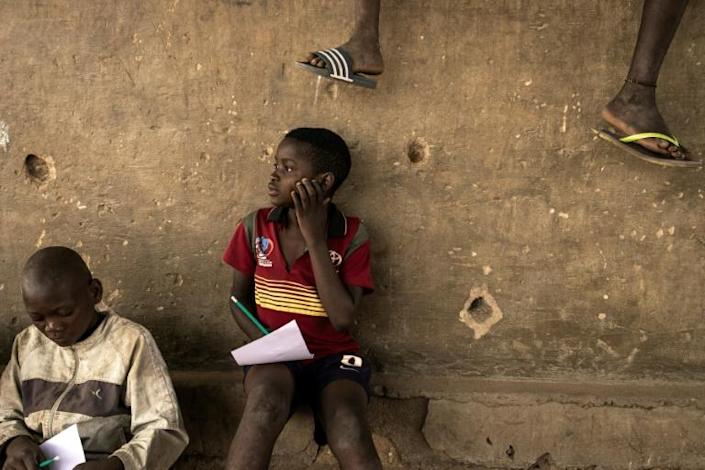 A young boy at a camp for internally displaced people in Metuge, northern Mozambique (AFP/JOHN WESSELS)