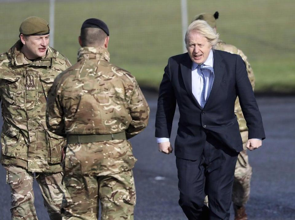 Boris Johnson has drawn back from plans to deploy troops (Peter Morrison/PA) (PA Archive)