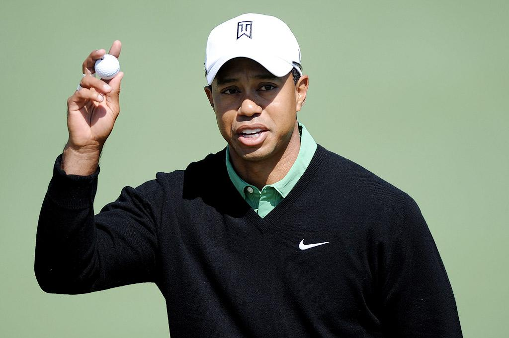 """Tiger Woods made his return to golf at the 2010 Masters Tournament in Augusta, Georgia, on Thursday. The golfer was greeted with claps, jeers, and an amusing message from a plane flying overhead -- """"Tiger: Did you mean bootyism?"""" The cheeky banner referred to the embattled athlete's recent statements about returning to his Buddhist faith. Harry How/<a href=""""http://www.gettyimages.com/"""" target=""""new"""">GettyImages.com</a> - April 9, 2010"""