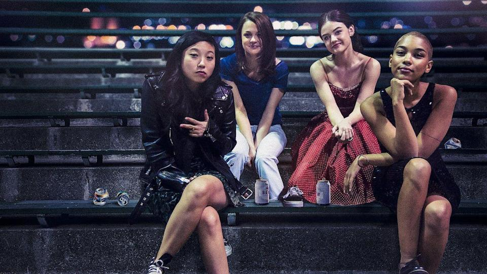"<p>Four friends make a bunch of ill-advised decisions during the last two weeks of high school — not that any of us would know anything about that. Lucy Hale, Awkwafina, Kathryn Prescott and Alexandra Shipp star in this story of teens acting out.</p><p><a class=""link rapid-noclick-resp"" href=""https://www.netflix.com/watch/80192186"" rel=""nofollow noopener"" target=""_blank"" data-ylk=""slk:WATCH NOW"">WATCH NOW</a></p>"