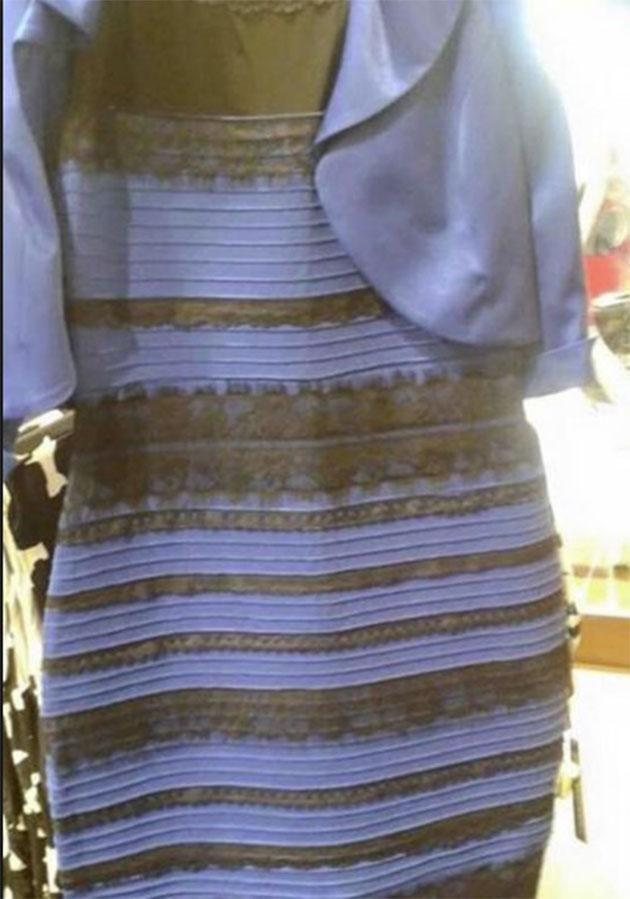 This dress caused the internet to go into meltdown last year with people divided on whether or not it was gold and white or blue and black.