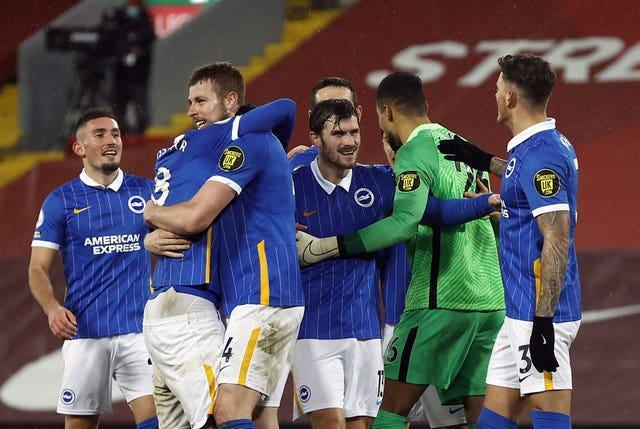 Brighton claimed a shock victory at Anfield