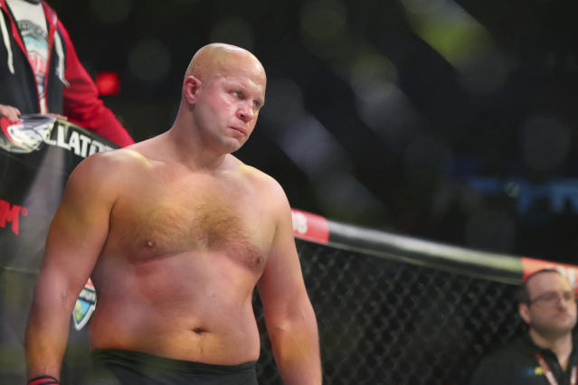 Fedor Emelianenko is not nearly the same fighter he was more than a decade ago when there was no finer mixed martial artist on the planet. (AP Photo/Gregory Payan)