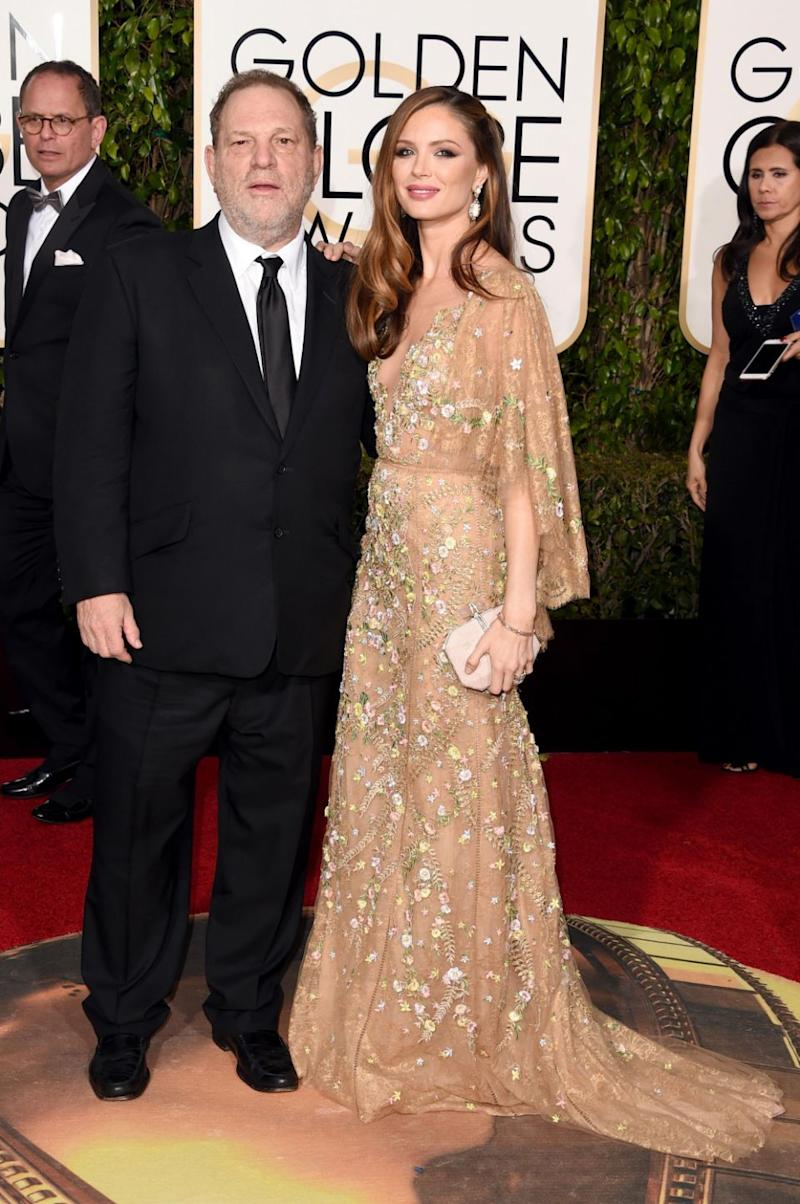 Harvey Weinstein is pictured with his wife, Marchesa, who is the founder of fashion label Marchesa. Photo: Getty Images