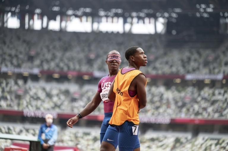 US sprinter David Brown has been through more guides than he can remember and says he is grateful to all of them (AFP/CHARLY TRIBALLEAU)
