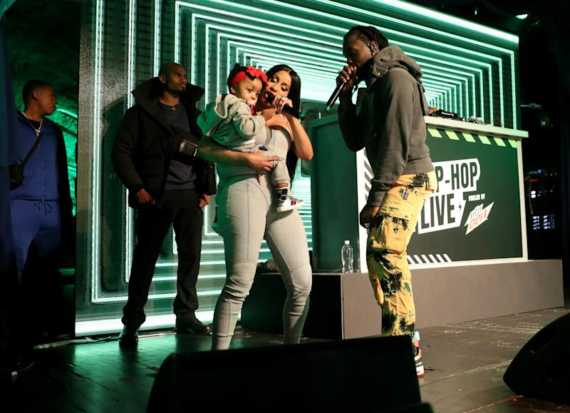 Cardi B with baby Kulture and Offset perform at Offset In Concert at Sony Hall on October 16, 2019 in New York City. (Photo by Johnny Nunez/WireImage)