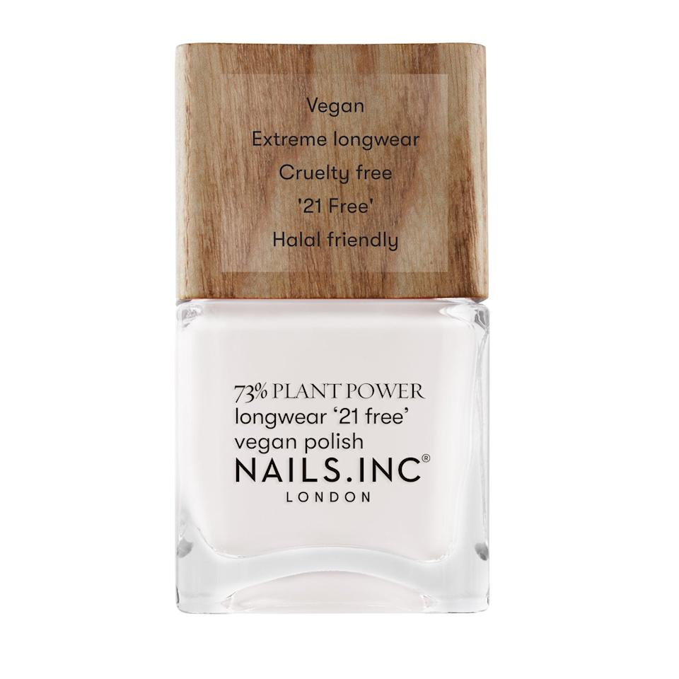 Nails Inc. Plant Power Nail Polish in Free Time Is Me Time, £9Nails Inc.