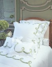 "<p><a class=""link rapid-noclick-resp"" href=""https://dporthaultparis.com/collections/embroidered-bed-linens/products/guirlande-de-lierre-green-5027?variant=9297377951788"" rel=""nofollow noopener"" target=""_blank"" data-ylk=""slk:Shop Now"">Shop Now</a></p><p>At the very top end of luxury linens, D Porthault is simply the gold standard of bedding. Opened in 1920 in Paris, the linen label is a favourite of interior designers and is synonymous with stunning prints and incredible detail. The brand also offers a bespoke service if you want to create custom-made sheets with your motif of choice. </p><p>Guirlande de Lierre green bed linens, $295 - $3350, <a href=""https://dporthaultparis.com/collections/embroidered-bed-linens/products/guirlande-de-lierre-green-5027?variant=9297377951788"" rel=""nofollow noopener"" target=""_blank"" data-ylk=""slk:D. Porthault"" class=""link rapid-noclick-resp"">D. Porthault</a></p>"