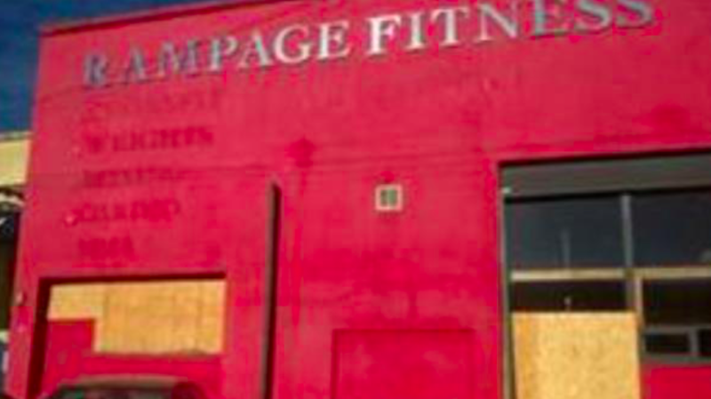 One commercial unit had been turned into a gym. (NCA)