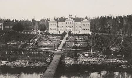 The Kuper Island Indian Residential School is seen on Penelakut Island, British Columbia in a June 19, 1941 archive photo. REUTERS/Canada. Dept. of Indian and Northern Affairs/Library and Archives Canada/e011080322/handout