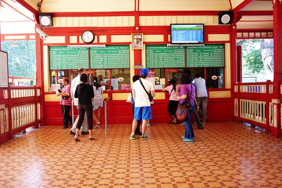 <p>The must see is the ticketing area, which was one the Royal Waiting Room. The tile floors and pretty walls make it a must-photograph icon. There is an old steam train in display nearby if you're interested in ancient modes of transportation.</p>