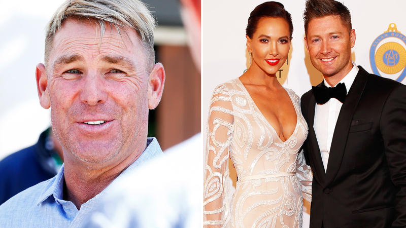Shane Warne, pictured here talking to the media in Melbourne.
