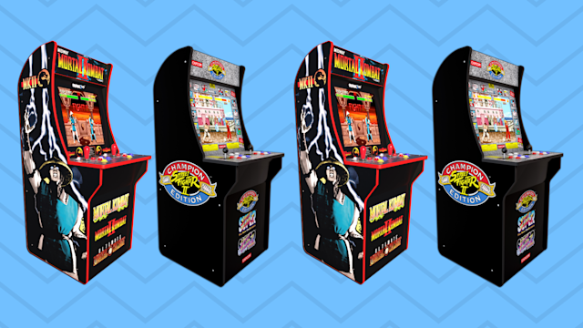 Save on Street Fighter II and Mortal Kombat from Arcade1UP for Black Friday. (Photo: Walmart/Yahoo Lifestyle)