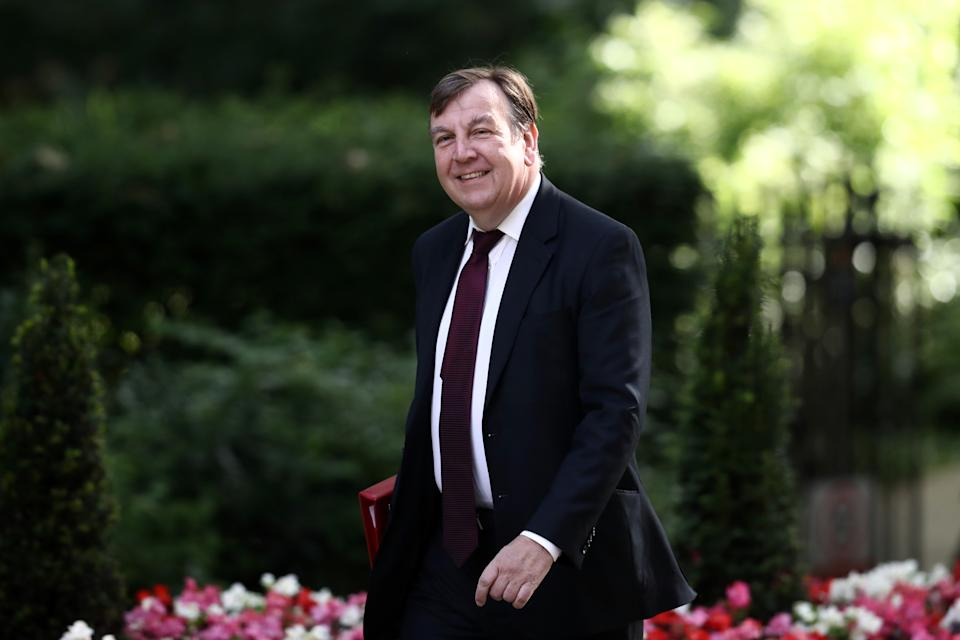 LONDON, ENGLAND - JULY 12: Secretary of State for Culture, Media and Sport, John Whittingdale, arrives to attend a Cabinet meeting at Downing Street on July 12, 2016 in London, England. David Cameron will step aside tomorrow (Wednesday) after his final Prime Minister's Questions allowing current Home Secretary Theresa May to move into 10 Downing Street.  She was selected unopposed by Conservative MPs to be their new leader.  (Photo by Carl Court/Getty Images)