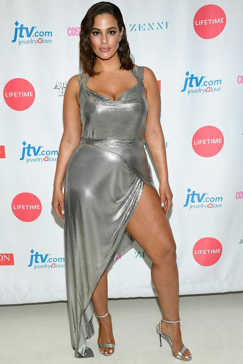 <p>At the season 2 finale of American Beauty Star in NYC: A silver wrap dress with extreme leg split might not sound like it would work, but my god Ashley Graham pulls it off. Looking like a mermaid that just stepped out of the ocean, the model's goddess gown is all the inspo we need for summer weddings. </p>