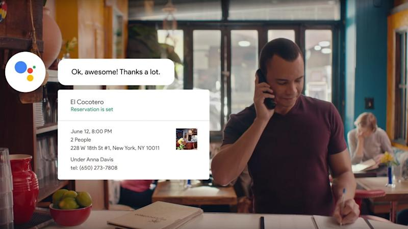 Google Duplex calls for reservations are handled by humans one-fourth of the time