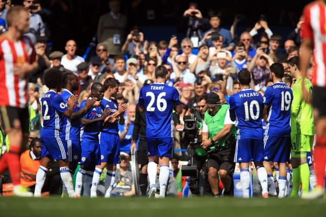 There was a guard of honour for Terry in his final match for Chelsea in 2017 (Mike Egerton/PA)