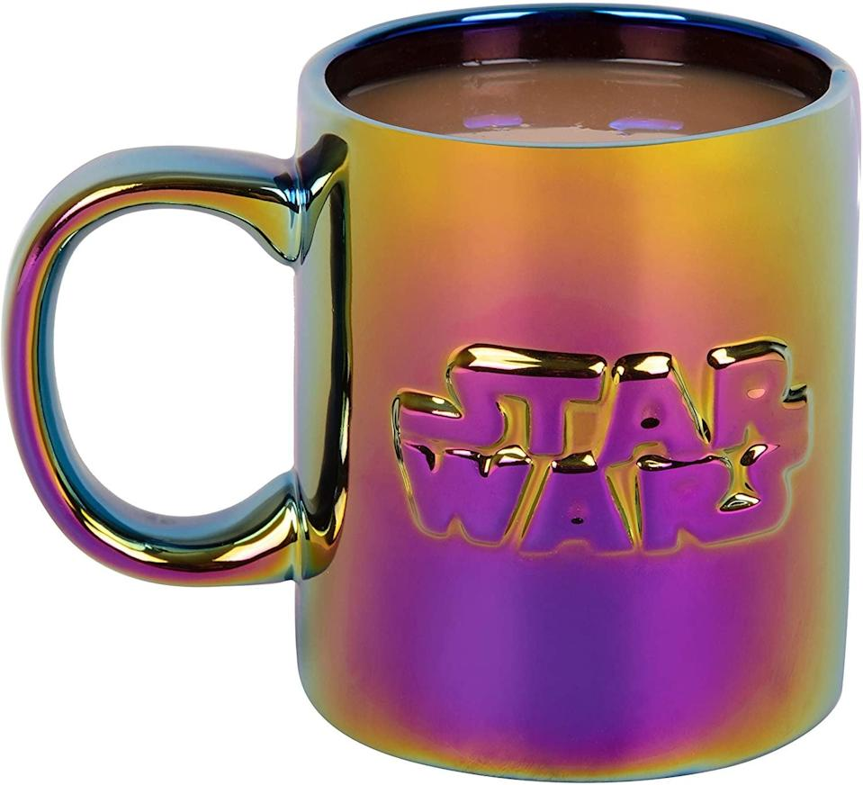 <p>How mesmerizing is this <span>Star Wars Ceramic Coffee Mug - Iridescent Metallic Holographic Finish</span> ($13)1?</p>